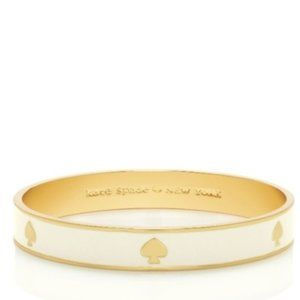 """Kate Spade """"Ace of Spades"""" Bangle in White/Gold"""